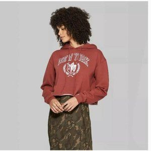 Wild Fable Cropped New York Graphic Sweatshirt XS